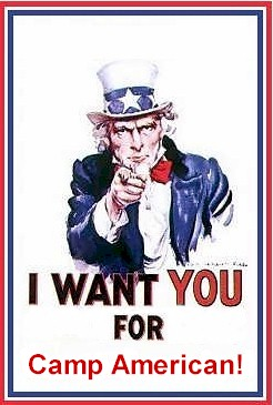 I want you for Camp American!